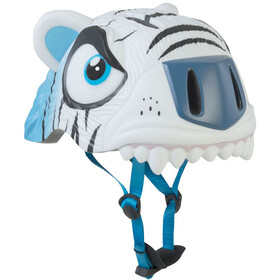 Crazy Safety Tiger Casco Bambino, white